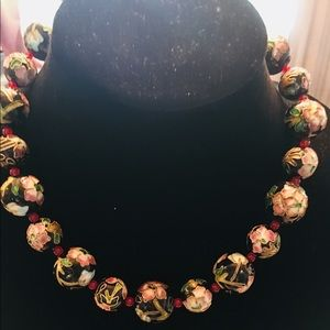 Chinese Flower Bead choaker Necklace